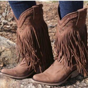 Liberty Black Vegas fringe cowboy boot size 8